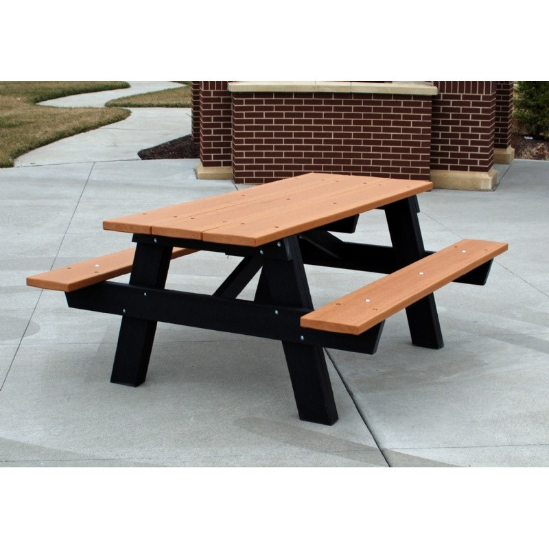 A Frame Resinwood Picnic Bench and Table 6 Feet