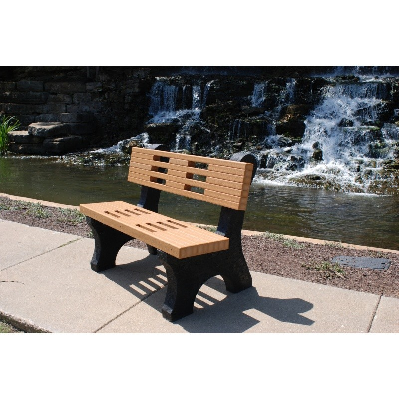 Ariel Recycled Plastic Park Bench 4 Feet