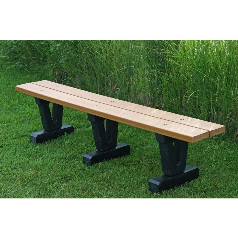 Basic Recycled Plastic Park Bench 4 Feet