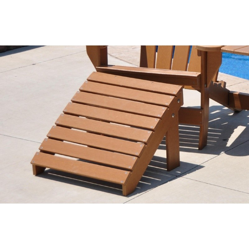 Traditional Recycled Plastic Ottoman For Adirondack Chairs