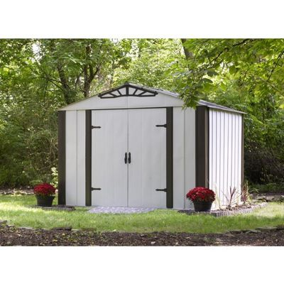 Arrow Designer 10 x 8 HDG Steel Shed DS108