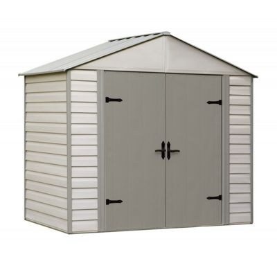 Arrow Viking Series 8 ft. x 5 ft. Vinyl-Coated Steel Storage Shed VVCS85