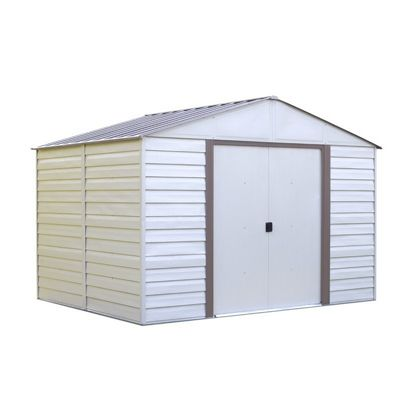 Arrow Vinyl Milford 10 ft. x 12 ft. Vinyl-Coated Steel Storage Shed VM1012-C1