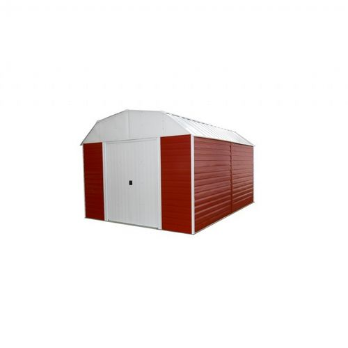 Arrow Red Barn 10 ft. ×14 ft. Steel Storage Shed RH1014-C1