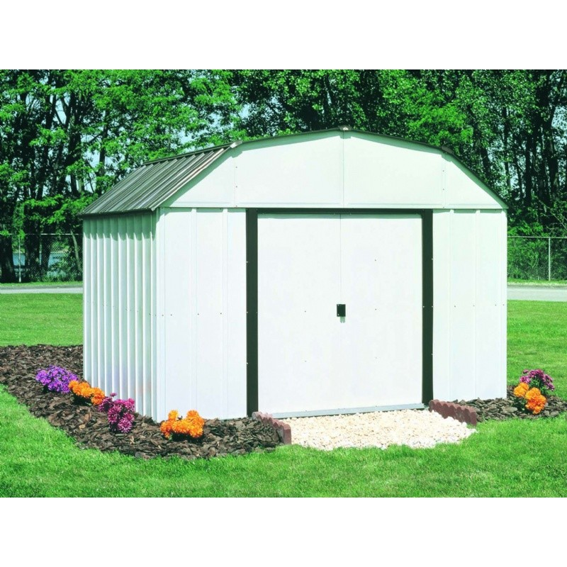Marvelous ... Arrow Galvanized Steel Storage Shed Assembly By Arrow Concord 10 215 14 Storage  Shed Co1014 ...