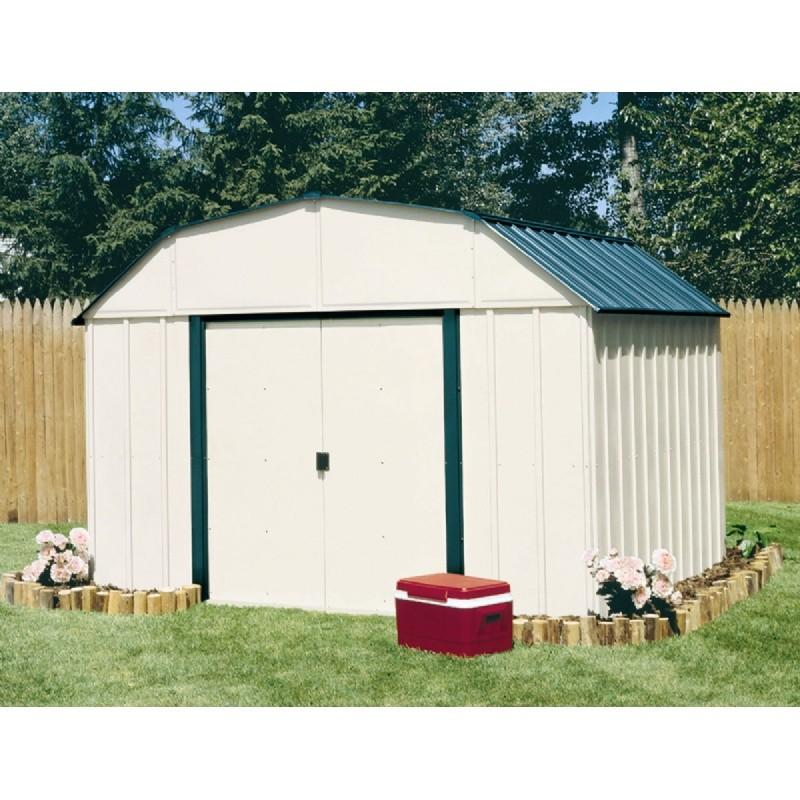 Arrow vinyl sheridan 10 14 storage shed vs1014 for Vinyl storage buildings