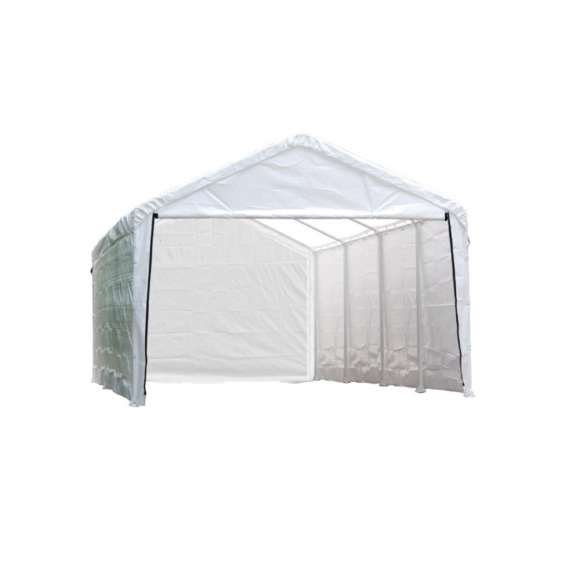 "12 × 26 ft. White Canopy Enclosure Kit, Fits 2"" Frame"