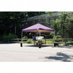 10 × 10 ST Pop-up Canopy, Purple Cover, Black Roller Bag 22703