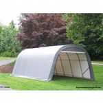 "Round Style Storage Shelter, 1-5/8"" Frame, Gray Cover 13 x 20 x 10 ft. 73332"