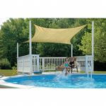 Square Shade Sail - Sand 230 gsm 16 ft.