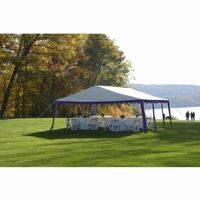 20x20 Party Tent, 8-Leg Galvanized Steel Frame, Blue/White 25918