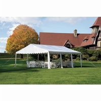 20x20 Party Tent, 8-Leg Galvanized Steel Frame, White 25917