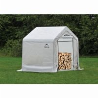 "Firewood Seasoning Shed, 1-3/8"" Frame, Clear Cover 5 × 3.5 × 5 90395"