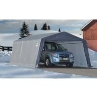 "Peak Style Shelter, 1-3/8"" 6-Rib Frame, Gray Cover 12 x 20 x 8 62790"