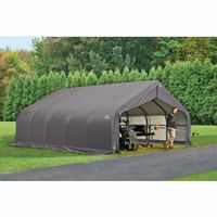 "Peak Style Storage Shelter, 2-3/8"" Frame, Gray Cover 18 × 20 × 10 ft. 80043"