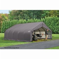 "Peak Style Storage Shelter, 2-3/8"" Frame, Gray Cover 18 × 28 × 10 ft. 80005"