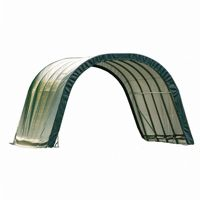 Round Style Run-In Shelter, Green Cover 12x20x8 51341