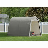 Round Style Storage Shed, Gray Cover 10x10x8 ft. 70435