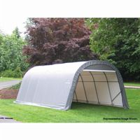 "Round Style Storage Shelter, 1-5/8"" Frame, Gray Cover 13 × 20 × 10 ft. 73332"
