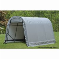 "Round Style Storage Shelter, 1-5/8"" Frame, Gray Cover 8 × 12 × 8 ft. 76813"