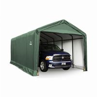 "ShelterTube Storage Shelter, 2"" 6-Rib Frame, Green Cover 12 × 25 × 11 ft. 62810"