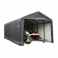 "ShelterTube Storage Shelter, 2"" 7-Rib Frame, Gray Cover 12 × 30 × 11 ft. 62808"