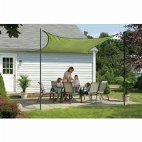 Square Shade Sail - Lime Green 230 gsm 16 ft. 25677