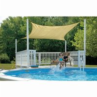 Square Shade Sail - Sand 160 gsm 16 ft. 25732