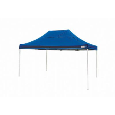 10x15 ST Pop-up Canopy, Blue Cover, Black Roller Bag 22551
