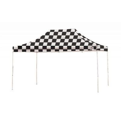10x15 ST Pop-up Canopy, Checkered Flag Cover, Black Roller Bag 22555