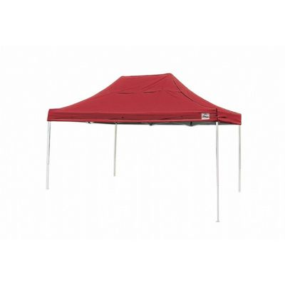 10x15 ST Pop-up Canopy, Red Cover, Black Roller Bag 22550