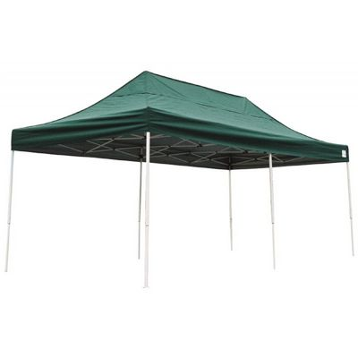 10x20 ST Pop-up Canopy, Green Cover, Black Roller Bag 22582