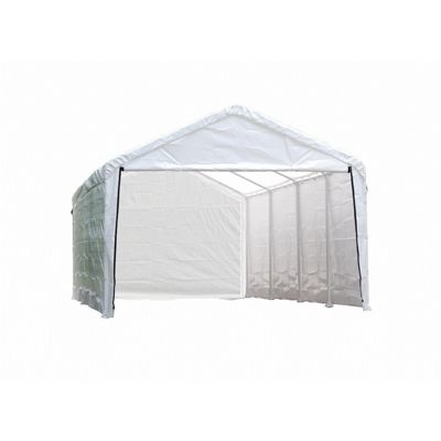 "12 × 26 ft. White Canopy Enclosure Kit, Fits 2"" Frame 25776"