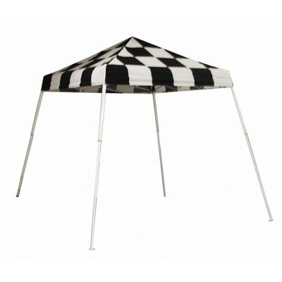 8x8 SL Pop-up Canopy, Checkered Flag Cover, Carry Bag 22579