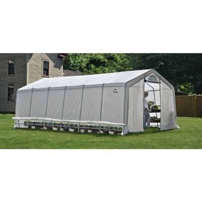 Peak Style Greenhouse with Side Vents 12 × 24 × 8 70591