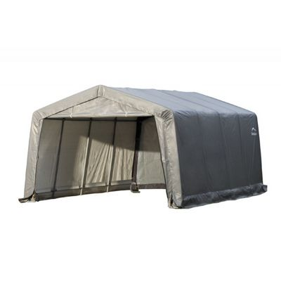 "Peak Style Shelter, 1-3/8"" 5-Rib Frame, Gray Cover 12 x 16 x 8 62697"