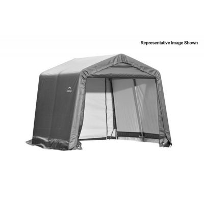 "Peak Style Storage Shelter, 1-5/8"" Frame, Gray Cover 10 x 8 x 8 ft. 72803"