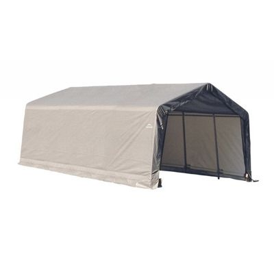 "Peak Style Storage Shelter, 1-5/8"" Frame, Gray Cover 13 x 20 x 10 ft. 73432"