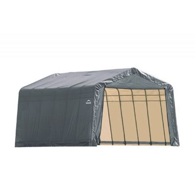 "Peak Style Storage Shelter, 1-5/8"" Frame, Gray Cover 13 x 24 x 10 ft. 74432"