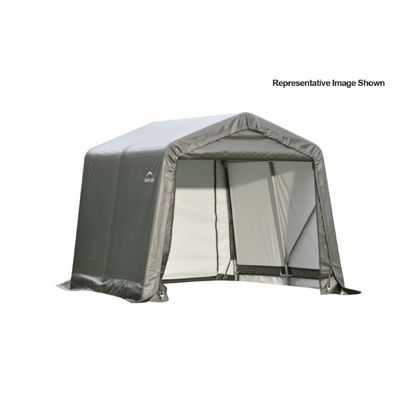 "Peak Style Storage Shelter, 1-5/8"" Frame, Gray Cover 8 x 12 x 8 ft. 71813"