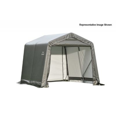"Peak Style Storage Shelter, 1-5/8"" Frame, Gray Cover 8 x 16 x 8 ft. 71823"