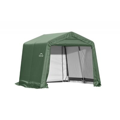 "Peak Style Storage Shelter, 1-5/8"" Frame, Green Cover 10 x 8 x 8 ft. 72804"