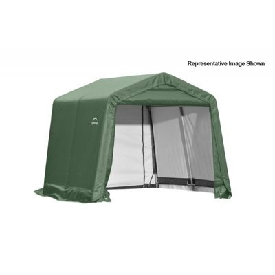 "Peak Style Storage Shelter, 1-5/8"" Frame, Green Cover 11 × 8 × 10 ft. 72854"