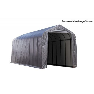 "Peak Style Storage Shelter, 2-3/8"" Frame, Gray Cover 15 x 44 x 16 ft. 95943"