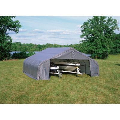 "Peak Style Storage Shelter, 2-3/8"" Frame, Gray Cover 22 x 20 x 11 ft. 78431"