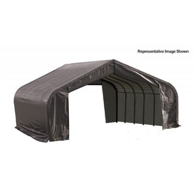 "Peak Style Storage Shelter, 2-3/8"" Frame, Gray Cover 22 x 20 x 13 ft. 82043"