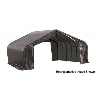"Peak Style Storage Shelter, 2-3/8"" Frame, Gray Cover 22 x 28 x 11 ft. 78731"