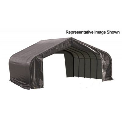 "Peak Style Storage Shelter, 2-3/8"" Frame, Gray Cover 22 × 28 × 13 ft. 82243"