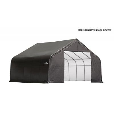 "Peak Style Storage Shelter, 2-3/8"" Frame, Gray Cover 30 x 20 x 16 ft. 86043"