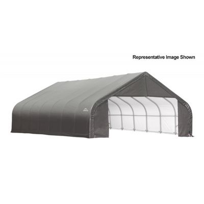 "Peak Style Storage Shelter, 2-3/8"" Frame, Gray Cover 30 x 24 x 20 ft. 86066"